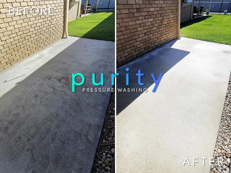 Purity Pressure Washing Before and After